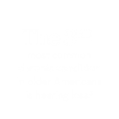 The 3rd most common condition in Americans is hearing loss