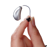 Receiver in Canal Hearing Aid in Hand